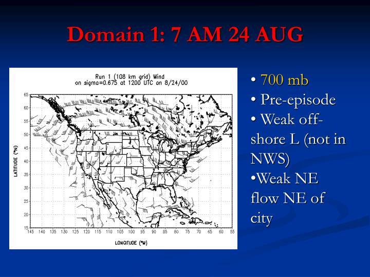 Domain 1: 7 AM 24 AUG