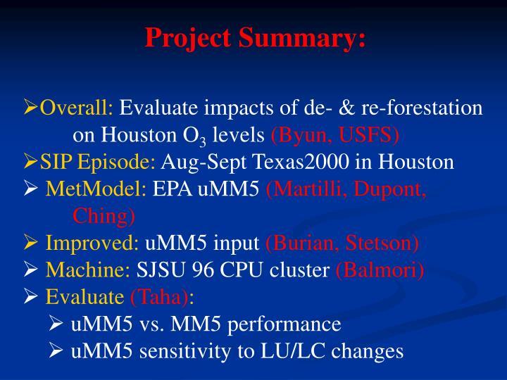 Project Summary: