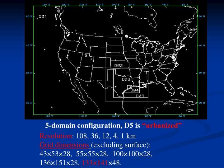 5-domain configuration, D5 is
