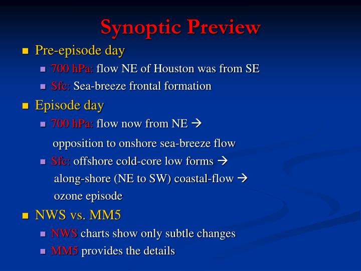 Synoptic Preview