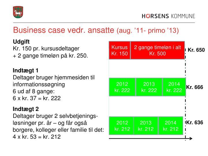 Business case vedr. ansatte