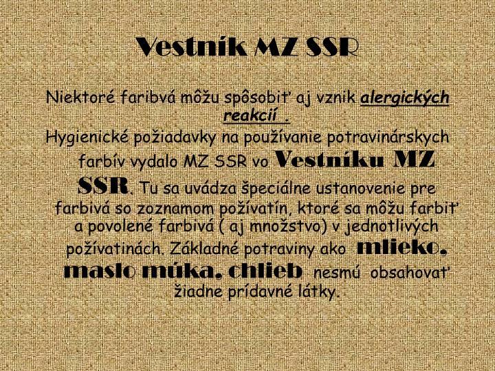 Vestník MZ SSR
