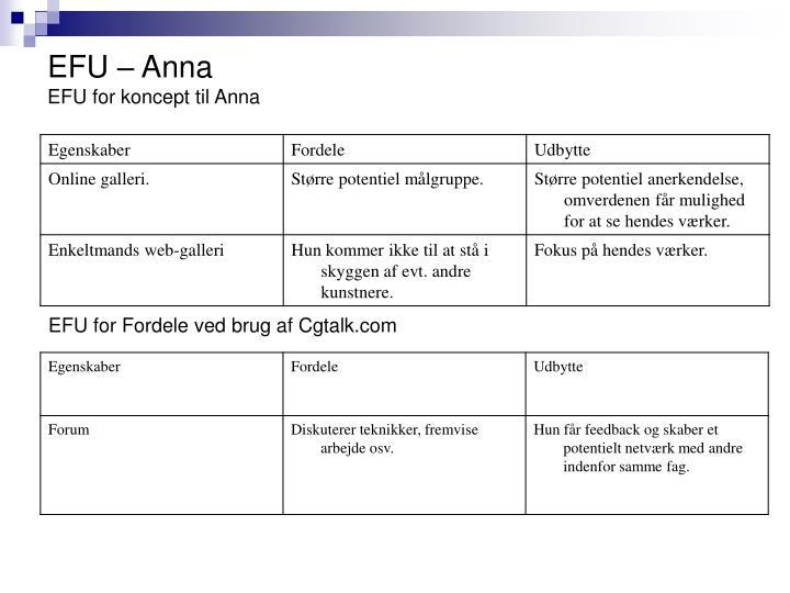 EFU – Anna