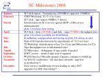 sc milestones 2006