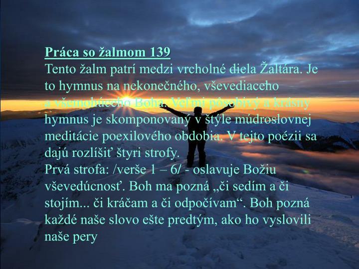 Práca so žalmom 139