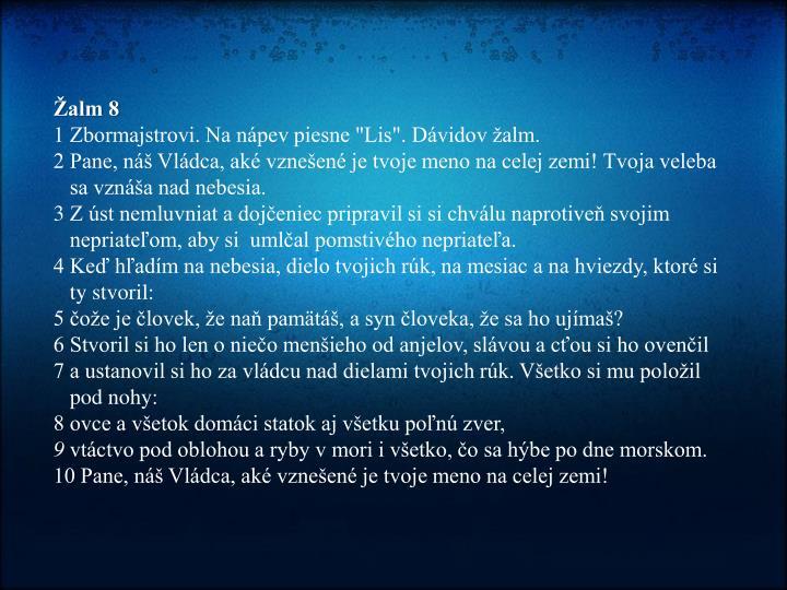 Žalm 8
