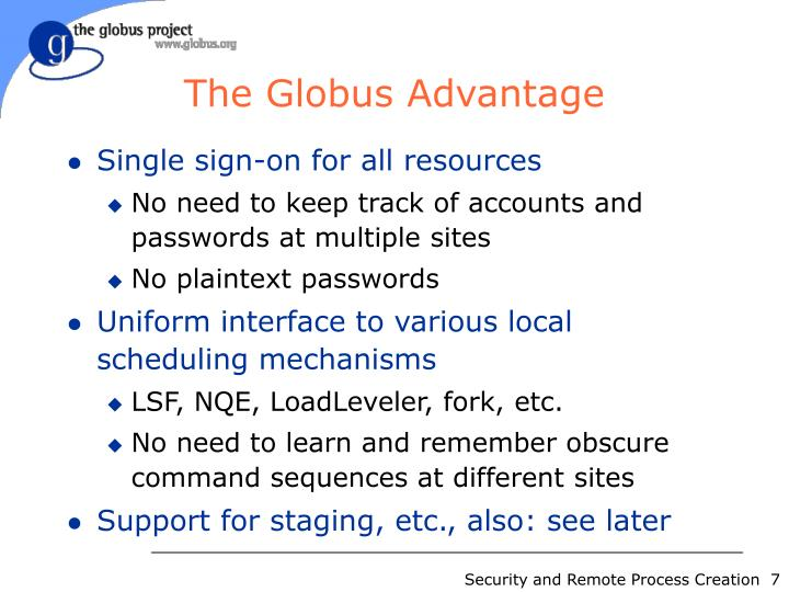 The Globus Advantage