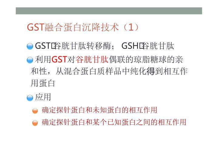 GST融合蛋白沉降技术
