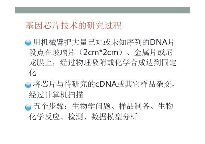 基因芯片技术的研究过程