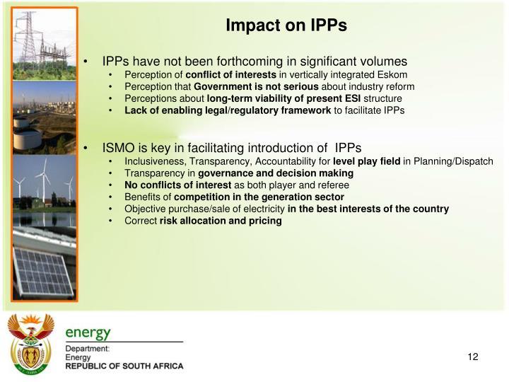 Impact on IPPs