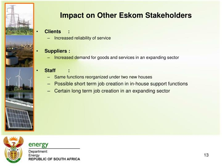 Impact on Other Eskom Stakeholders