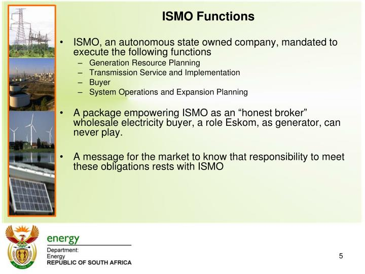 ISMO Functions