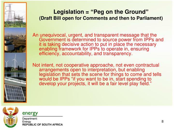 Legislation =