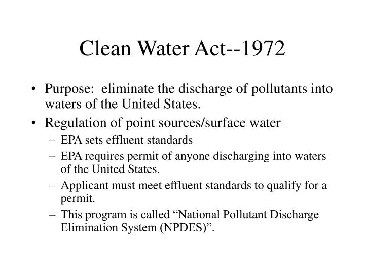 Clean Water Act--1972