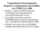 comprehensive environmental response compensation and liability act cercla 1980