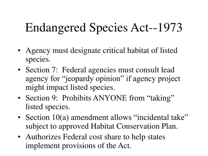 Endangered Species Act--1973