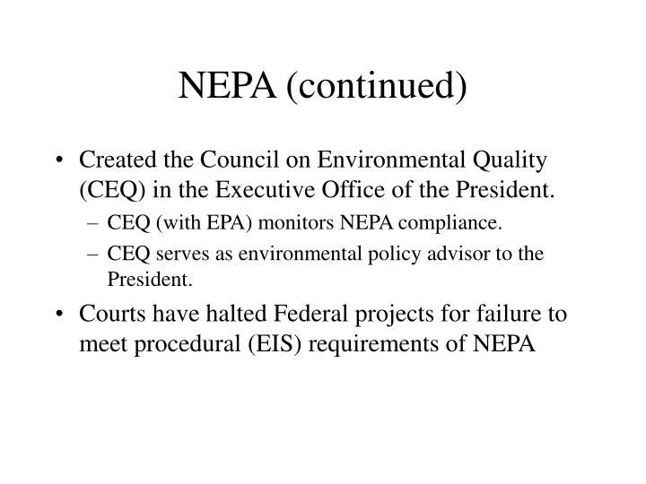 NEPA (continued)