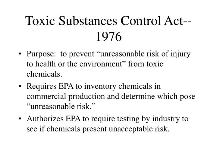 Toxic Substances Control Act--1976