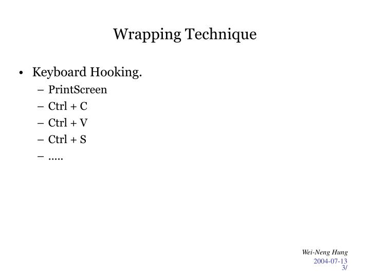 Wrapping technique1
