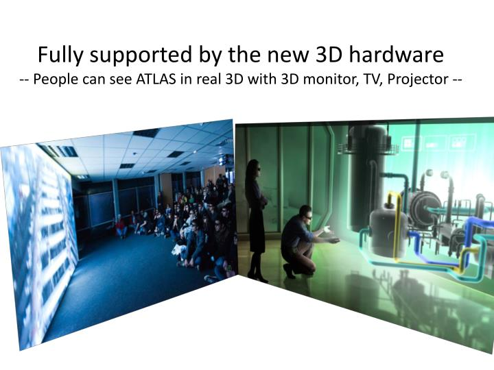 Fully supported by the new 3D hardware