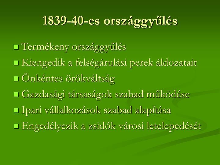 1839-40-es országgyűlés