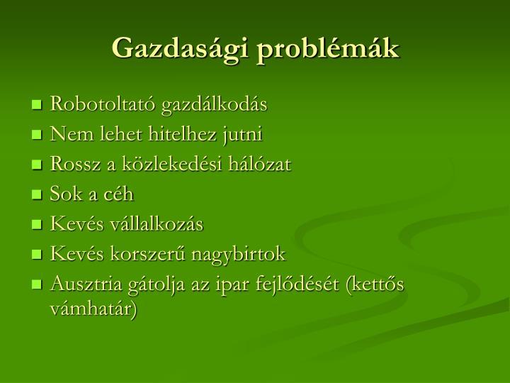 Gazdasági problémák