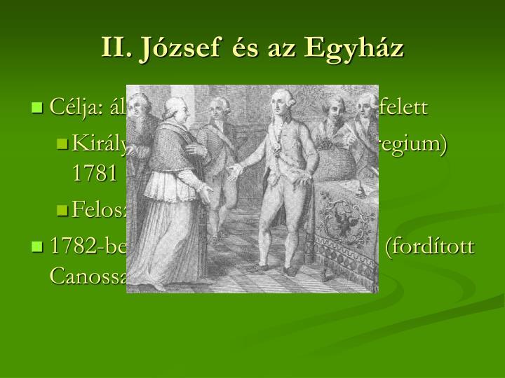 II. József és az Egyház