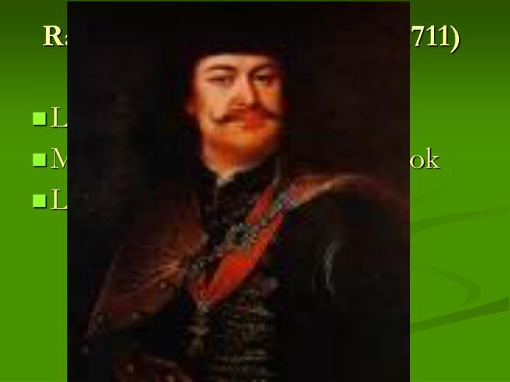 Rákóczi-féle felkelés (1703-1711)