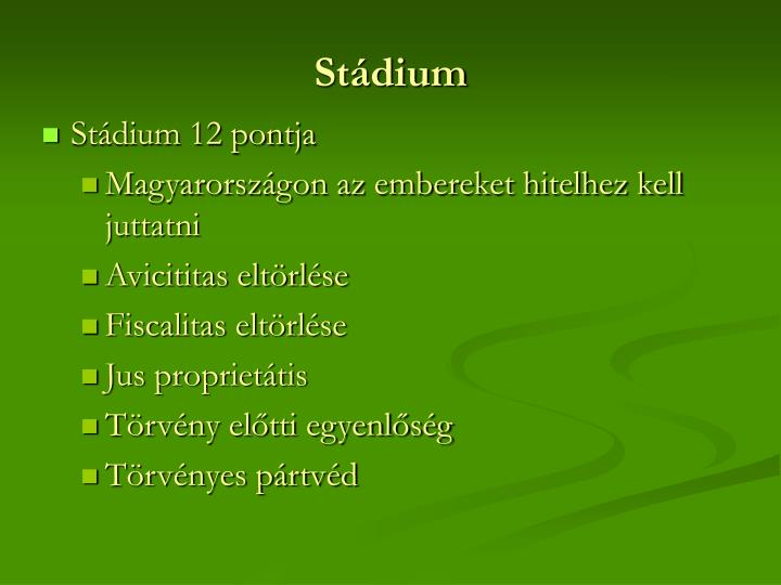 Stádium