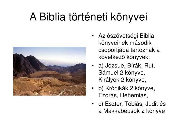 A Biblia történeti könyvei