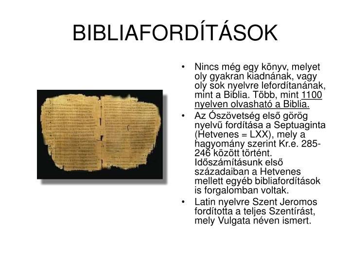 BIBLIAFORDÍTÁSOK