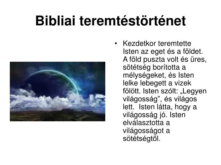 Bibliai teremtéstörténet