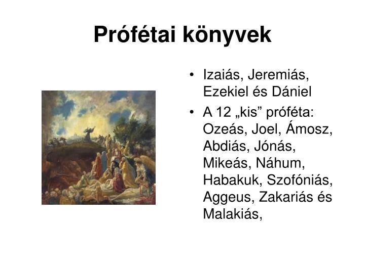 Prófétai könyvek