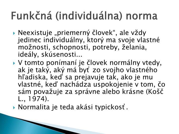 Funkčná (individuálna) norma