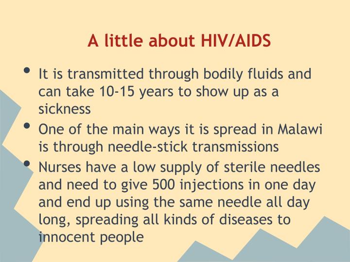 A little about HIV/AIDS