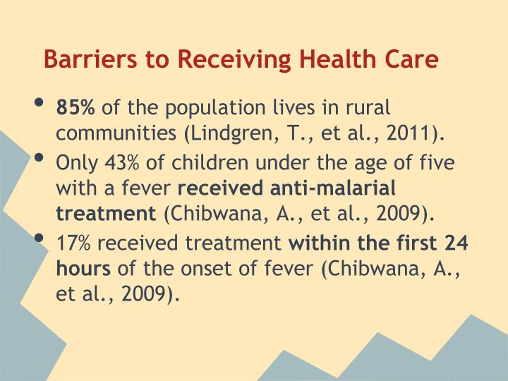 Barriers to Receiving Health Care