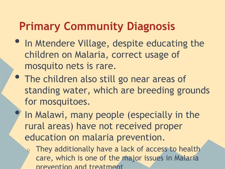 Primary Community Diagnosis