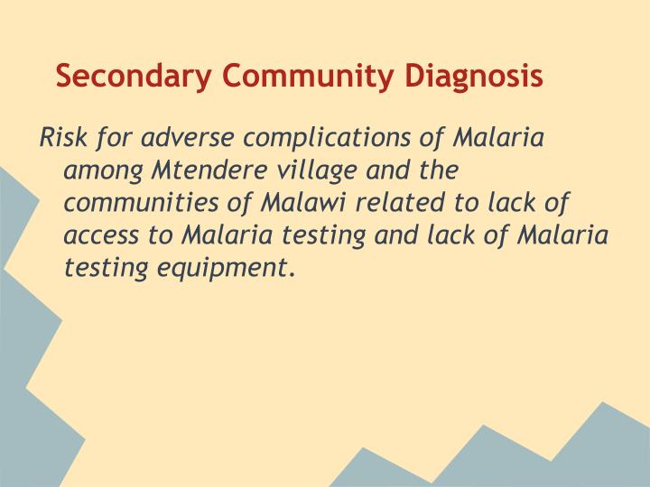 Secondary Community Diagnosis