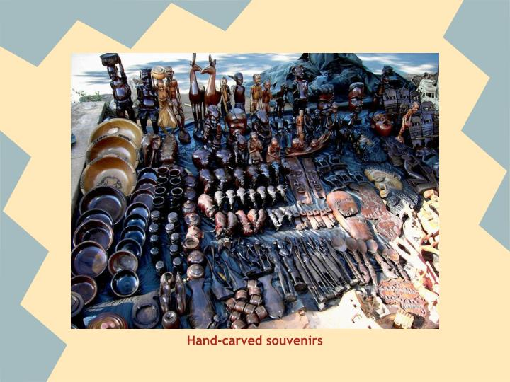 Hand-carved souvenirs