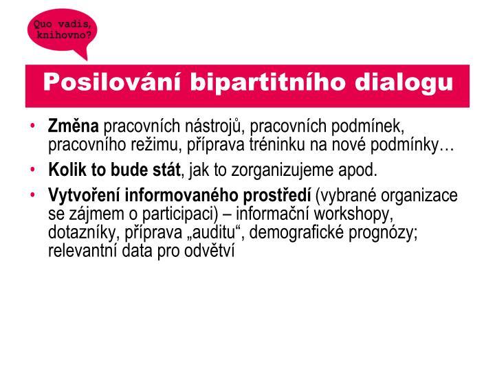 Posilování bipartitního dialogu