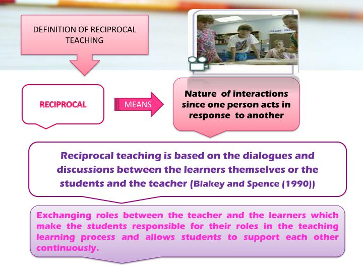 DEFINITION OF RECIPROCAL TEACHING
