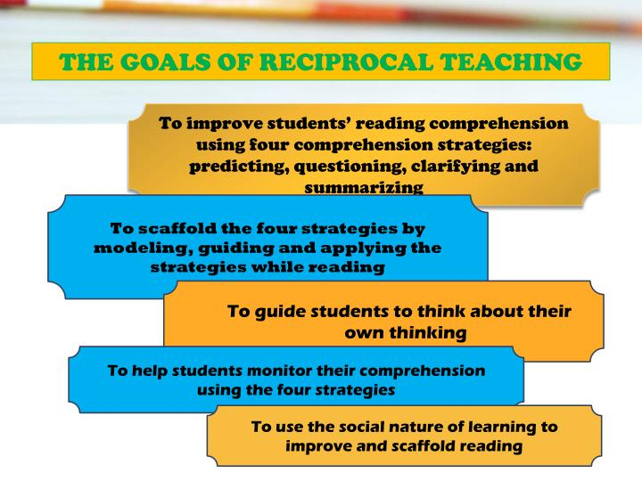 THE GOALS OF RECIPROCAL TEACHING