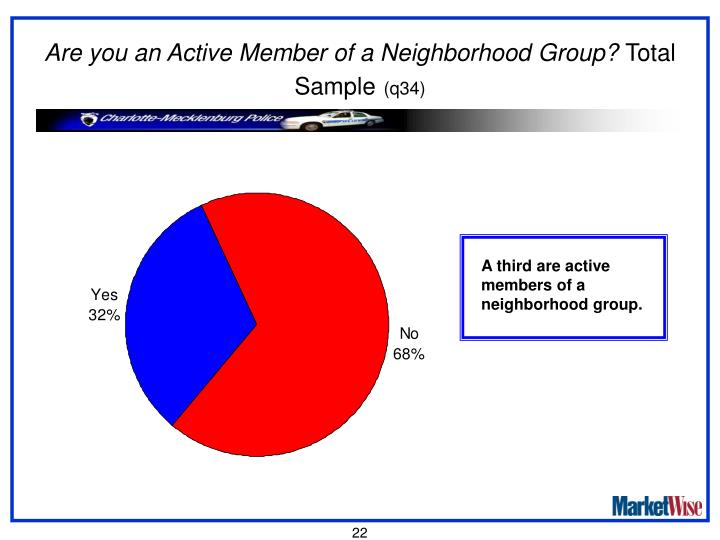 Are you an Active Member of a Neighborhood Group?