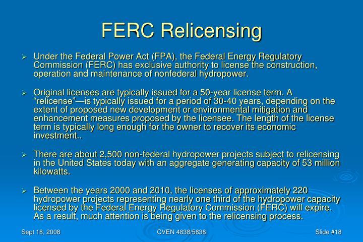 FERC Relicensing