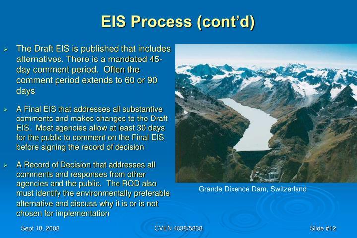 EIS Process (cont'd)