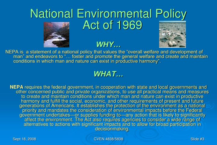 National Environmental Policy