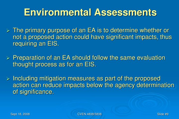 Environmental Assessments