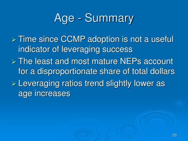 Age - Summary
