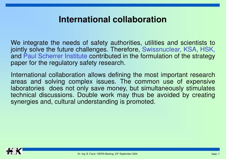 We integrate the needs of safety authorities, utilities and scientists to jointly solve the future challenges. Therefore,