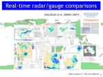 real time radar gauge comparisons